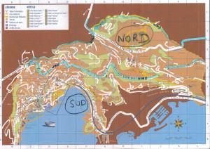 plan villefranche su mer nord et sud