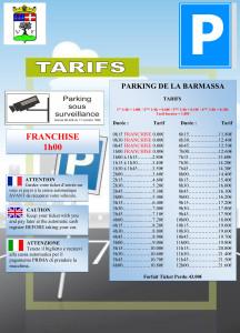 Affichage Tarifs BARMASSA 2015