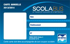 renouvellement carte de bus scolaire SCOLABUS | Villefranche sur Mer