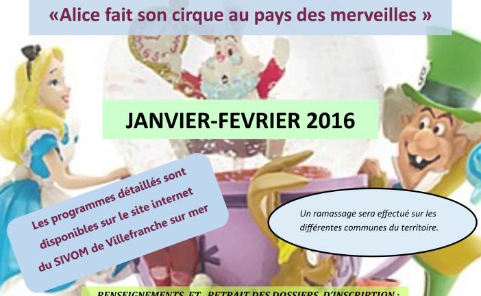 Programme de l'accueil de loisirs de Saint-Jean-Cap-Ferrat pour janv-fév 2016