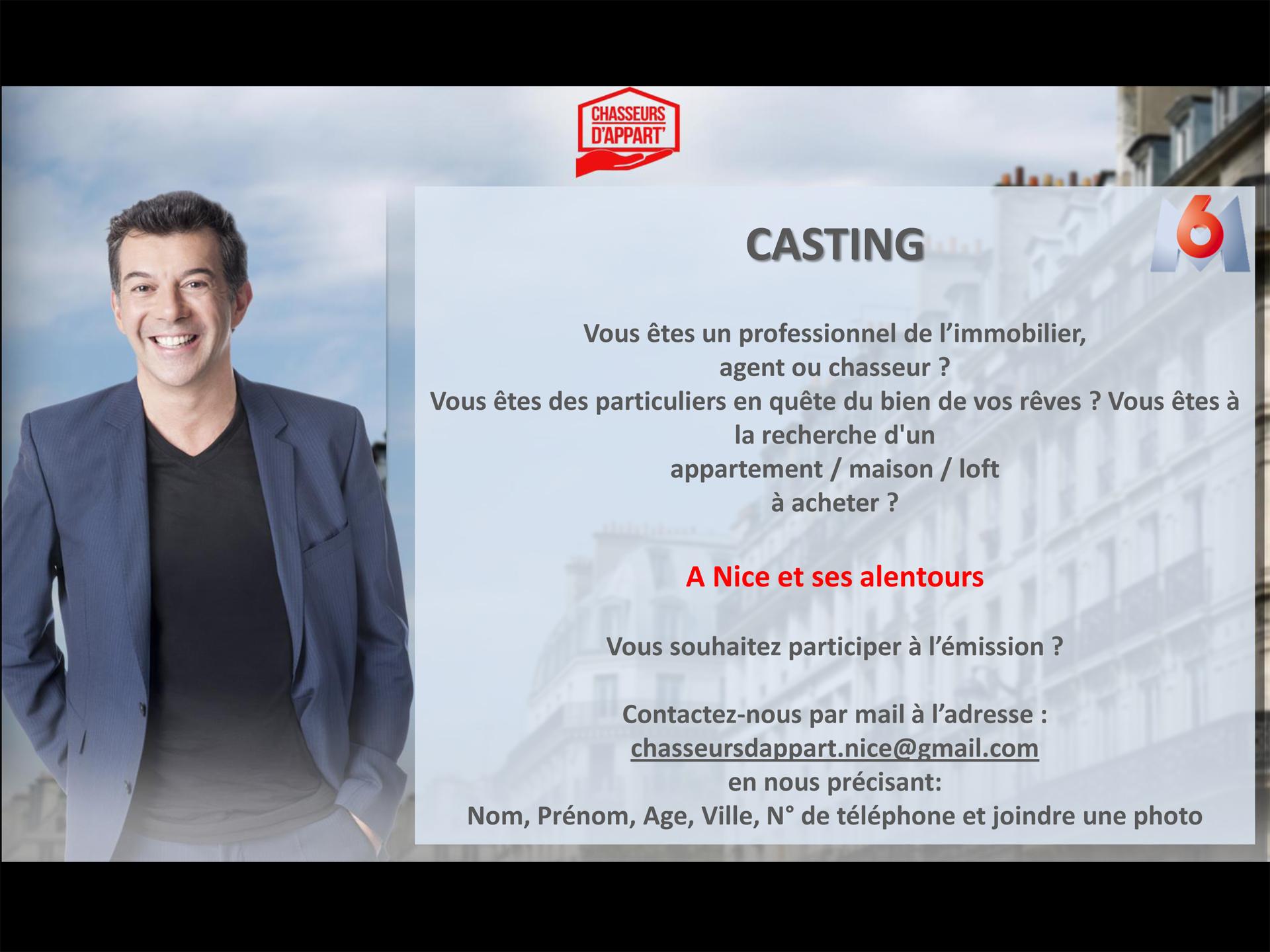 CASTING DE L'ÉMISSION Chasseurs d'Appart !!