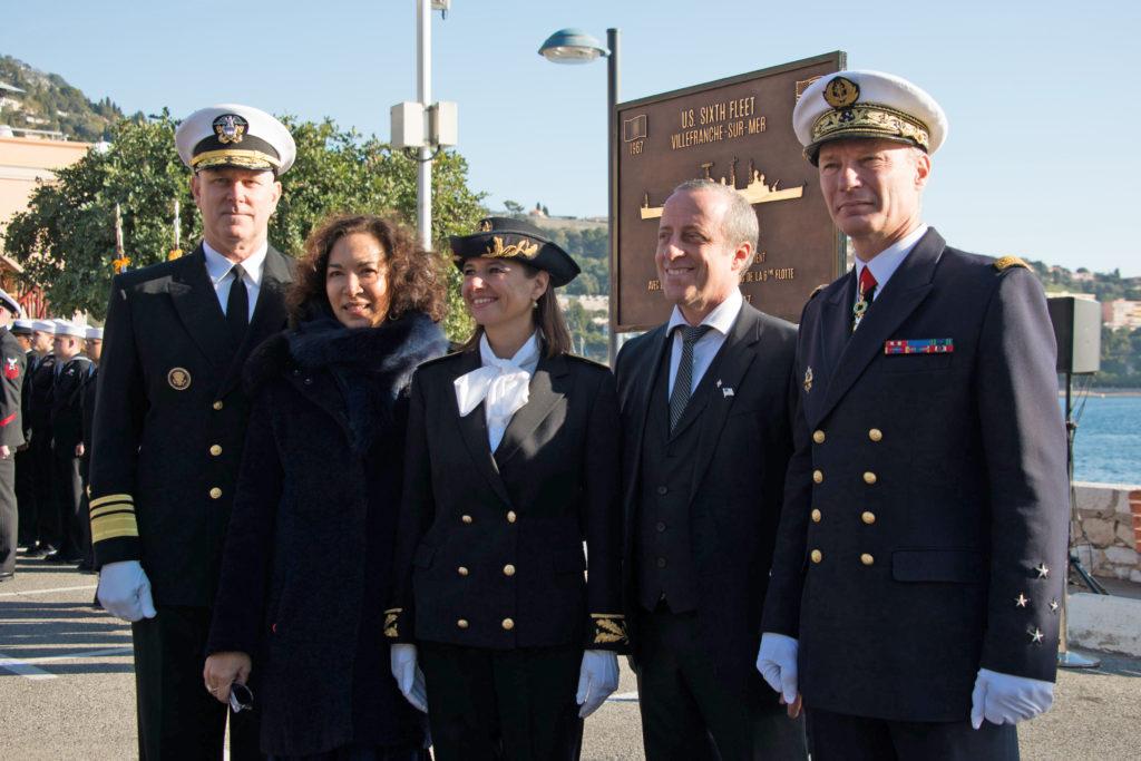 Commémoration du 50ème anniversaire du départ de la 6ème Flotte US de Villefranche-sur-Mer