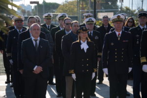 Commémoration départ 6ème Flotte US au Jardin Binon