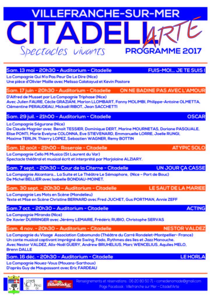 CITADELL'ARTE - Lancement et présentation De la saison Théâtrale 2017 -