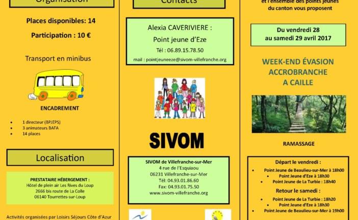 week-end évasion inter points jeunes