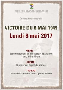 Commémoration de la Victoire du 8 mai 1945 @ Esplanade de l'Octroi - Monument aux Morts | Villefranche-sur-Mer | Provence-Alpes-Côte d'Azur | France