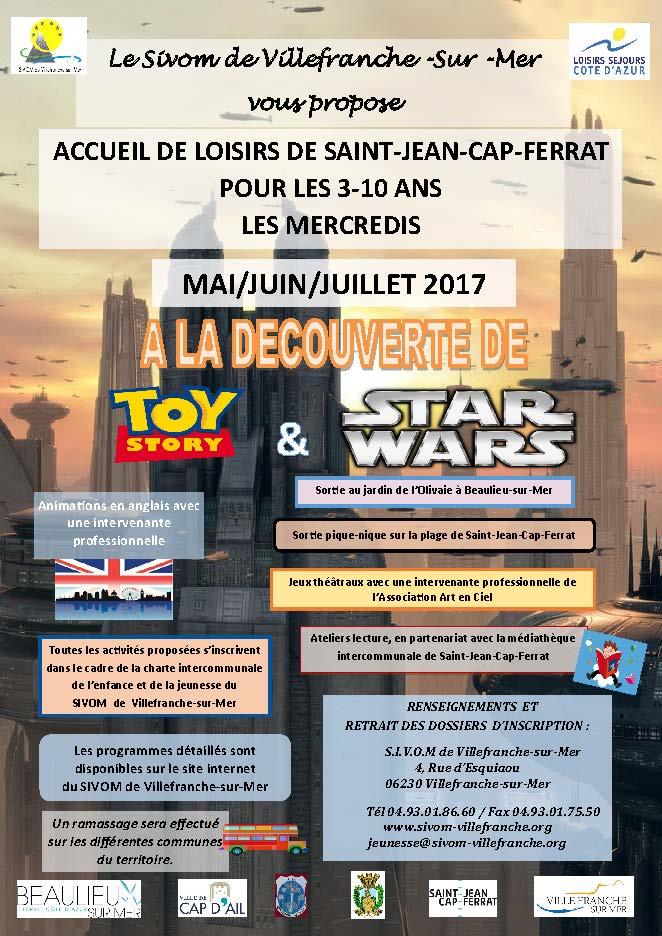 Les mercredis à Saint-Jean-Cap-Ferrat pour la période mai-juin-juillet 2017
