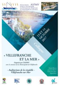 Villefranche et la Mer Organisé par l'ASPMV - Colloque sur la Mer -