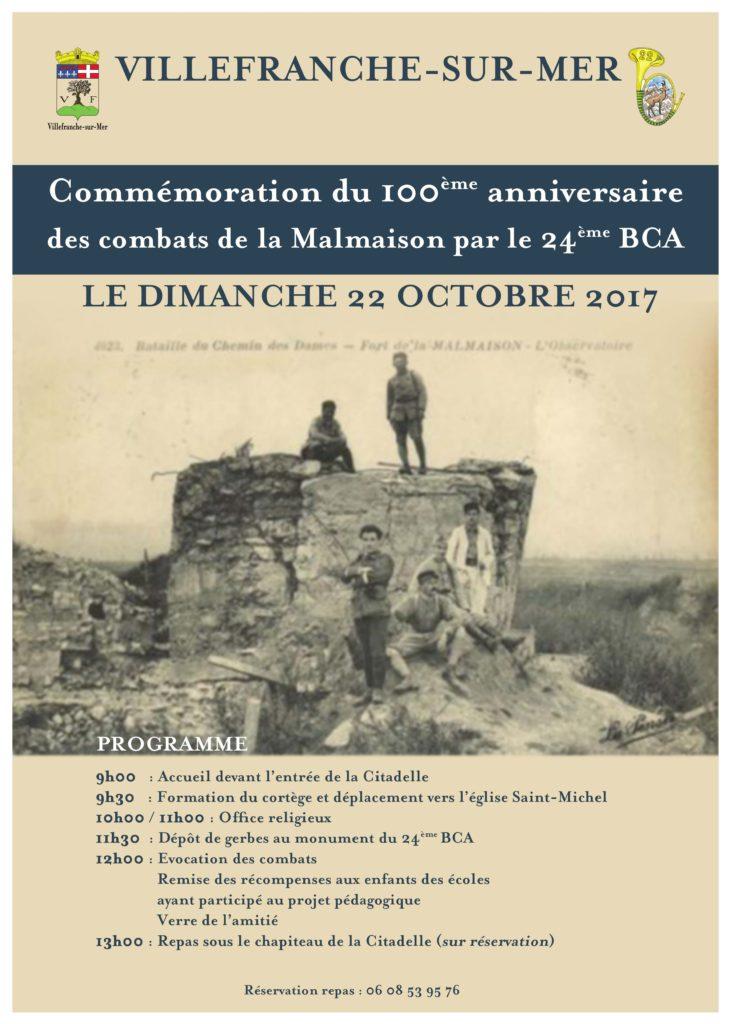 Commémoration du centenaire des combats de la Malmaison