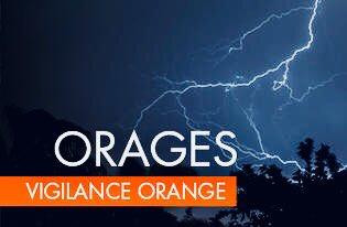Vigilance orange « orages » ce jour, lundi 8 janvier 2018, à 6h00 pour le département des Alpes-Maritimes