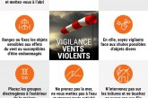 Vigilance orange – Vents Violents – 16 01 18