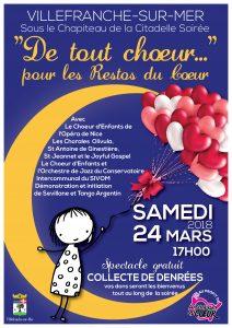 De tout chœur pour les Restos du Cœur @ Villefranche-sur-Mer | Villefranche-sur-Mer | France