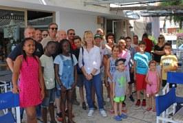 Journée des enfants du CHU l'Archet au Club de la Mer de Villefranche-sur-Mer