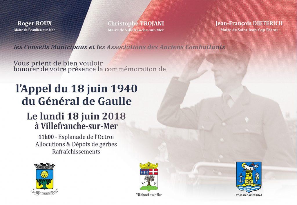 Appel du 18 Juin 1940 du Général de Gaulle @ Esplanade de l'Octroi | Villefranche-sur-Mer | Provence-Alpes-Côte d'Azur | France