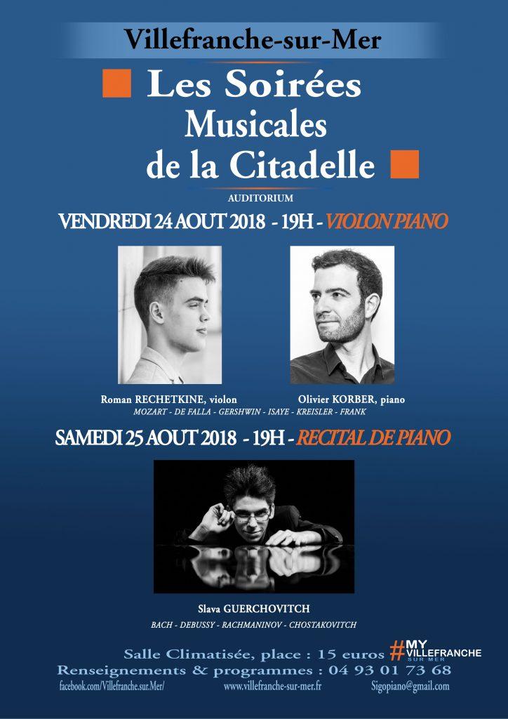 Soirée musicales de la Citadelle @ Théâtre de Verdure - Citadelle | Villefranche-sur-Mer | France
