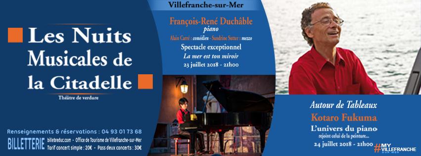 Nuits Musicales de la Citadelle - 23 et 24 Juillet 2018