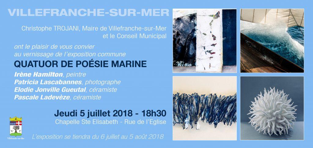 Exposition Quatuor de Poésie Marine @ Chapelle Sainte Elisabeth | Villefranche-sur-Mer | France