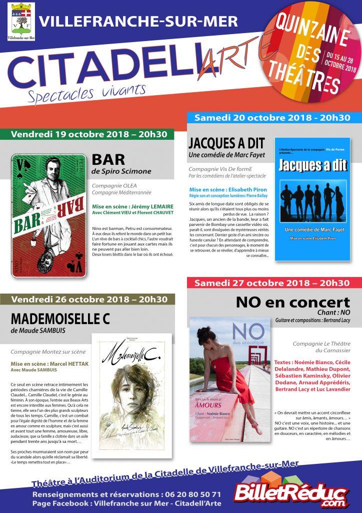 Citadell'Arte - Quinzaine des Théâtres @ Auditorium - Citadelle | Villefranche-sur-Mer | Provence-Alpes-Côte d'Azur | France