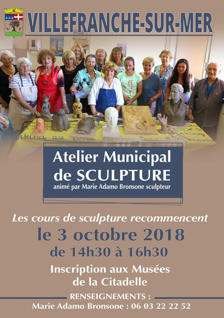Reprise des cours pour l'Atelier Municipal de Sculpture 2018/2019