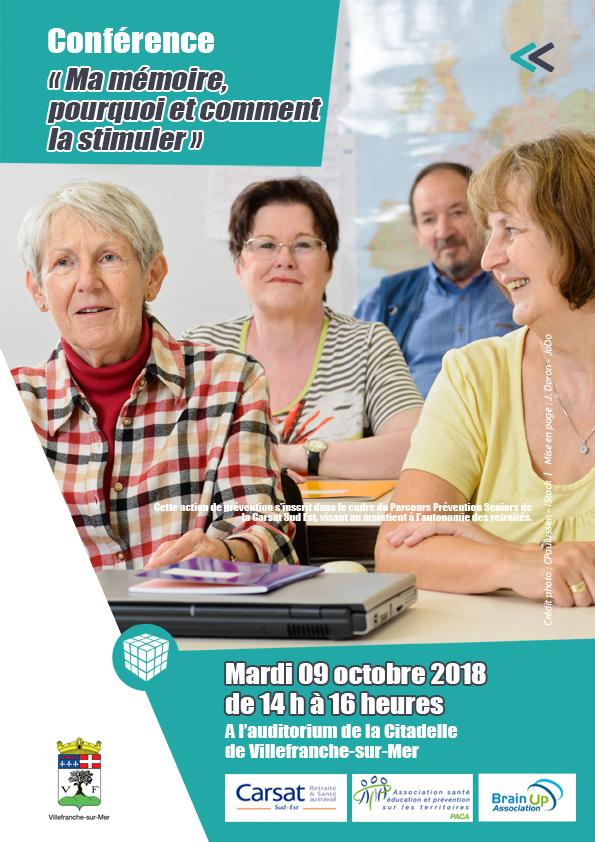 Conférence « Ma mémoire, pourquoi ? Comment la stimuler ? » Venez nombreux ! @ Auditorium - Citadelle | France