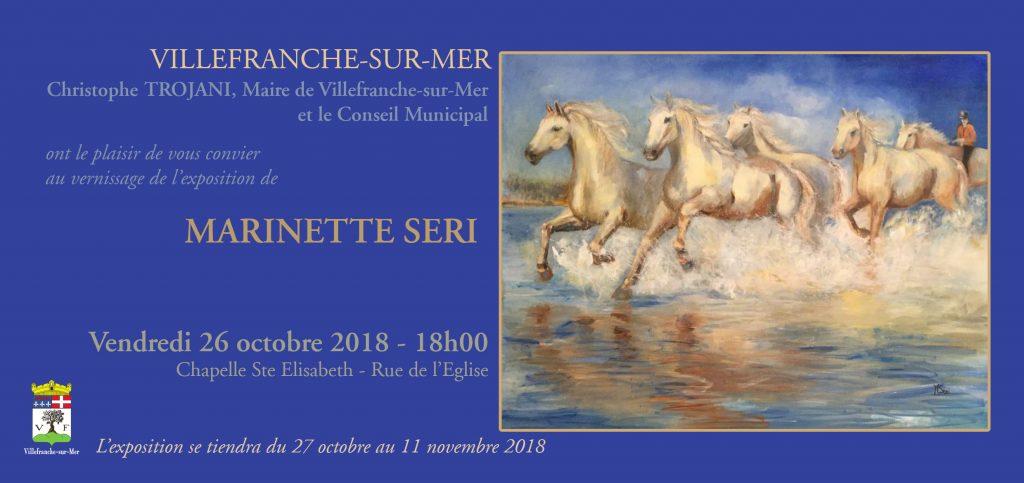 Vernissage exposition Marinette SERI @ Chapelle Sainte Elisabeth | Villefranche-sur-Mer | Provence-Alpes-Côte d'Azur | France
