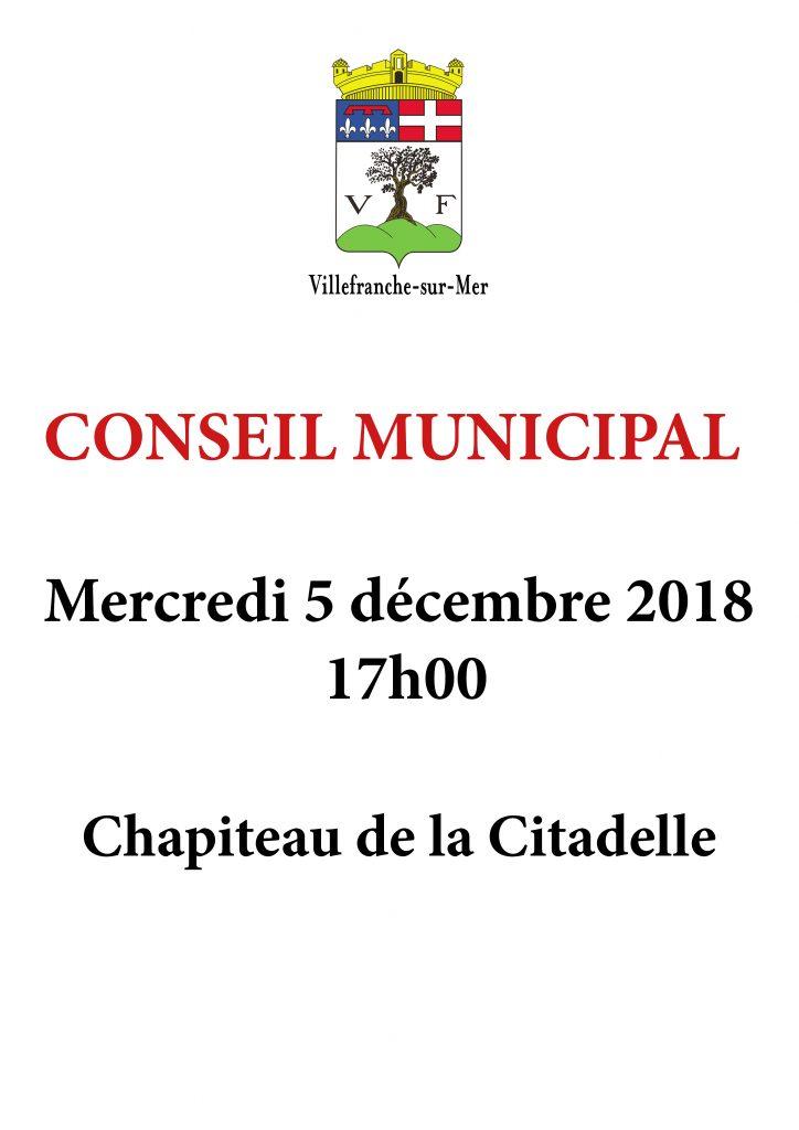 Conseil Municipal - Mercredi 5 Décembre à 17 H @ Chapiteau de la Citadelle | France