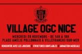LE VILLAGE OGC NICE À VILLEFRANCHE-SUR-MER – Mercredi 28 novembre 2018 de 14h à 18h
