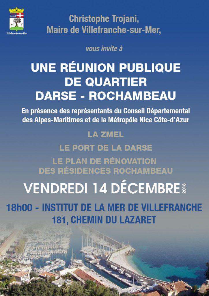 REUNION PUBLIQUE DE QUARTIER DARSE - ROCHAMBEAU @ Institut de la Mer