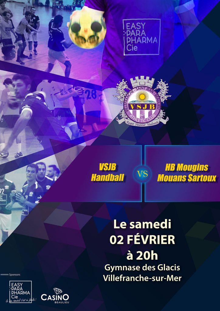VSJB Handball vs HB Mougins Mouans Sartoux @ Gymnase des Glacis