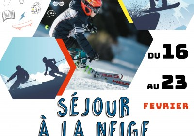 affiche séjour ski 8-10 ans st julien