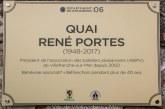 La dénomination du quai René Portes