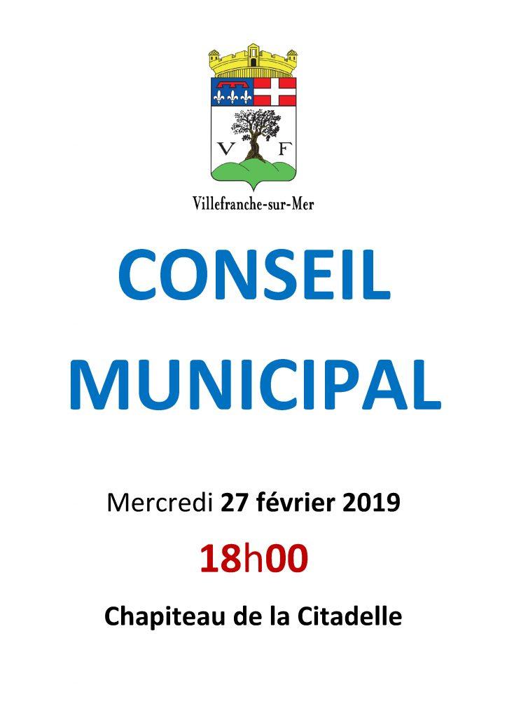 Conseil Municipal - Mercredi 27 février 2019 @ Chapiteau de la Citadelle
