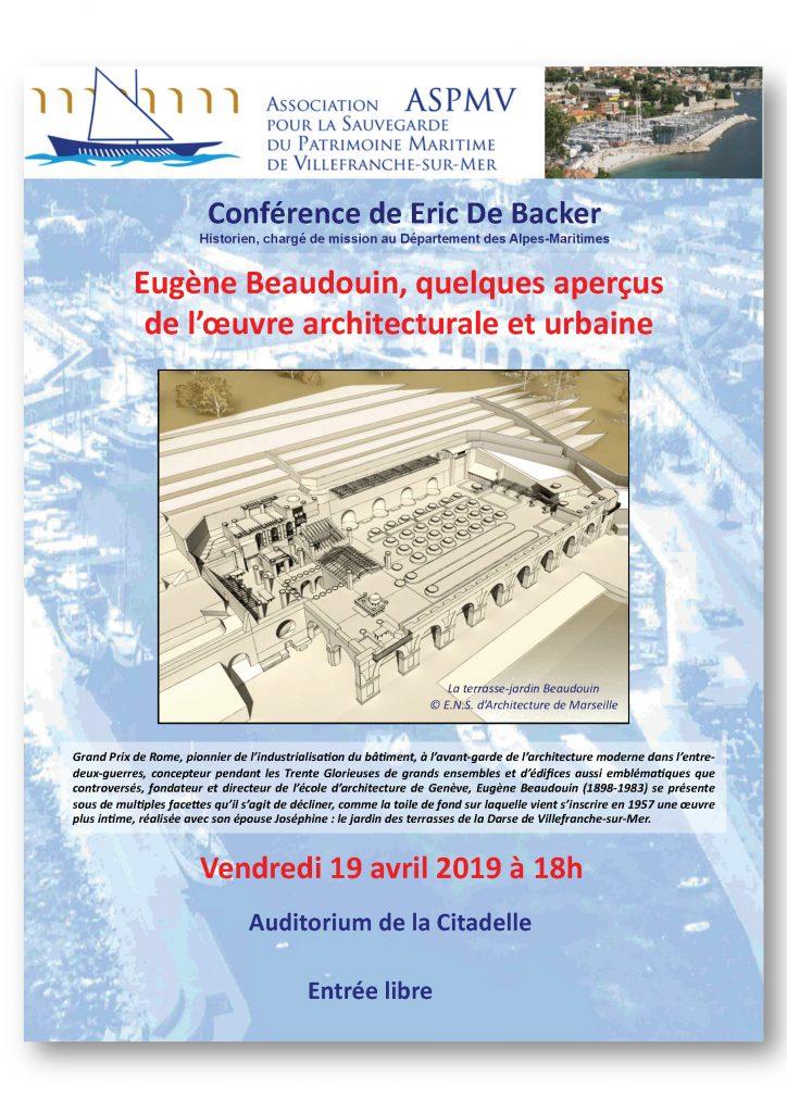Conférence de Eric De Backer - Eugène Beaudoin, quelques aperçus de l'oeuvre architecturale et urbaine @ Auditorium - Citadelle