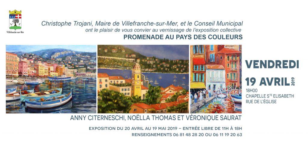 """Vernissage de l'exposition """"Promenade au pays des couleurs"""" @ Chapelle Sainte Elisabeth"""