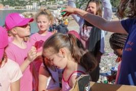 Les enfant à la rencontre de Paddle Cleaner et Azur Paddle Days