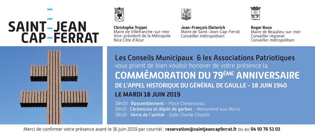 Commémoration du 79 ème anniversaire de l'appel historique du Général De Gaulle - 18 juin 1940 @ Place Clémenceau