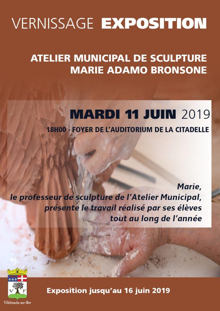 Vernissage de l'exposition de l'atelier municipal de sculpture - Marie Adamo Bronsone
