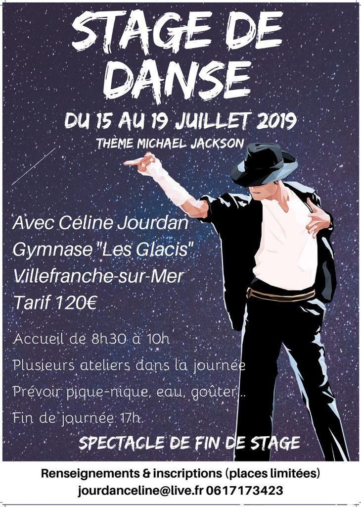 """Stage de danse """"Michael Jackson"""" - Du 15 au 19 juillet"""