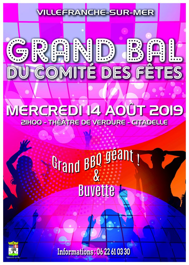 Grand Bal du Comité des fêtes @ Théâtre de Verdure, La Citadelle