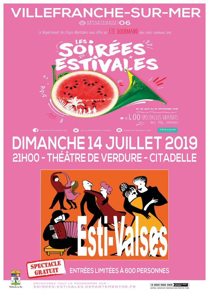 Les Soirées Estivales - ESTI-VALSES - Dimanche 14 juillet 2019 @ Théâtre de Verdure, La Citadelle