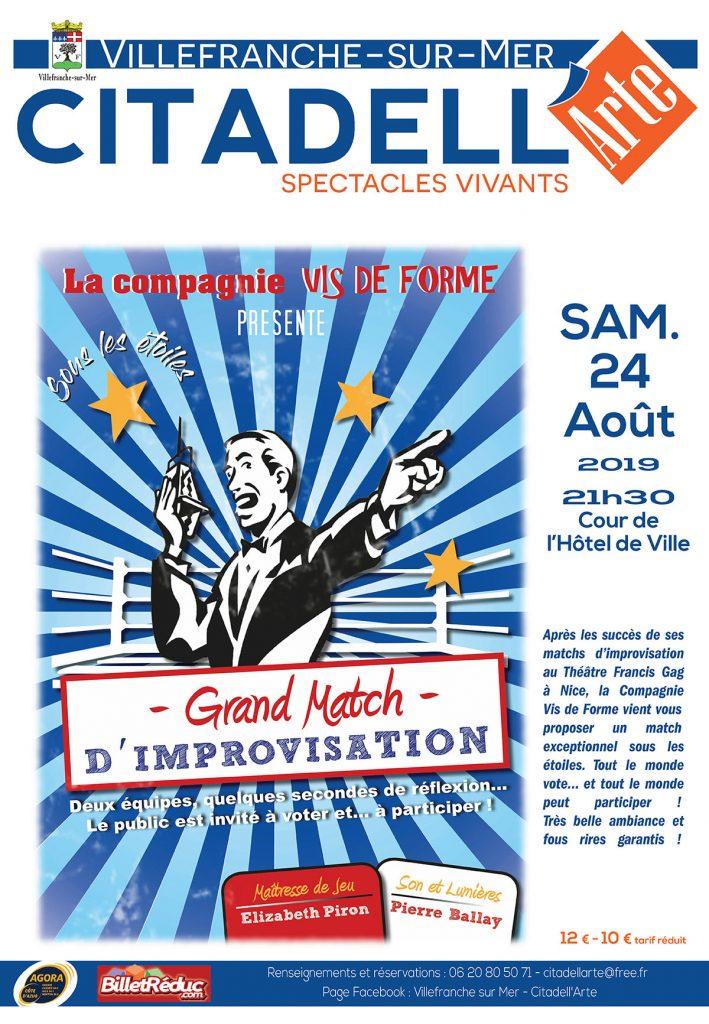 CITADELL'ARTE - Grand Match D'IMPROVISATION @ Cour de l'Hôtel de Ville