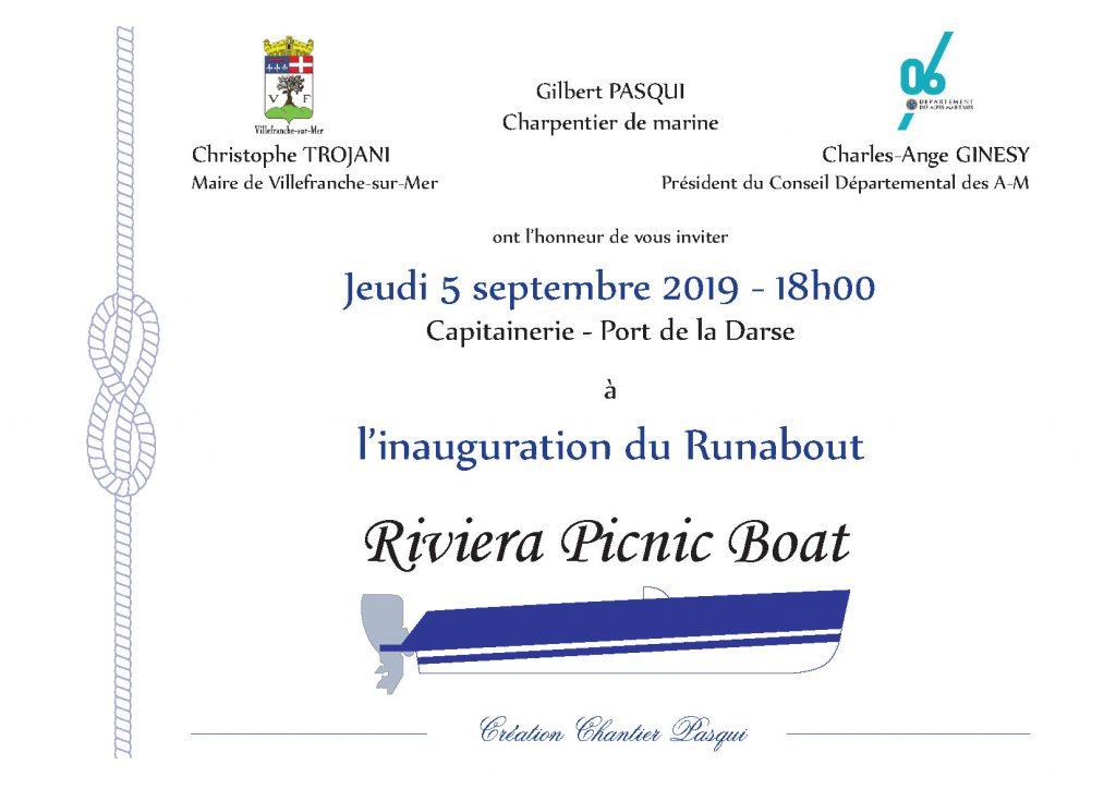 Inauguration du RUNABOUT - Riviera Picnic Boat @ Capitainerie - Port de la Darse