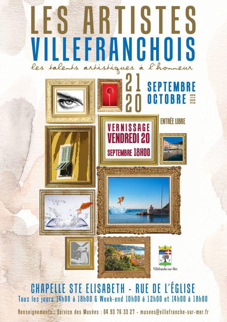Vernissage et Exposition : Les artistes villefranchois ! @ Chapelle Sainte Elisabeth