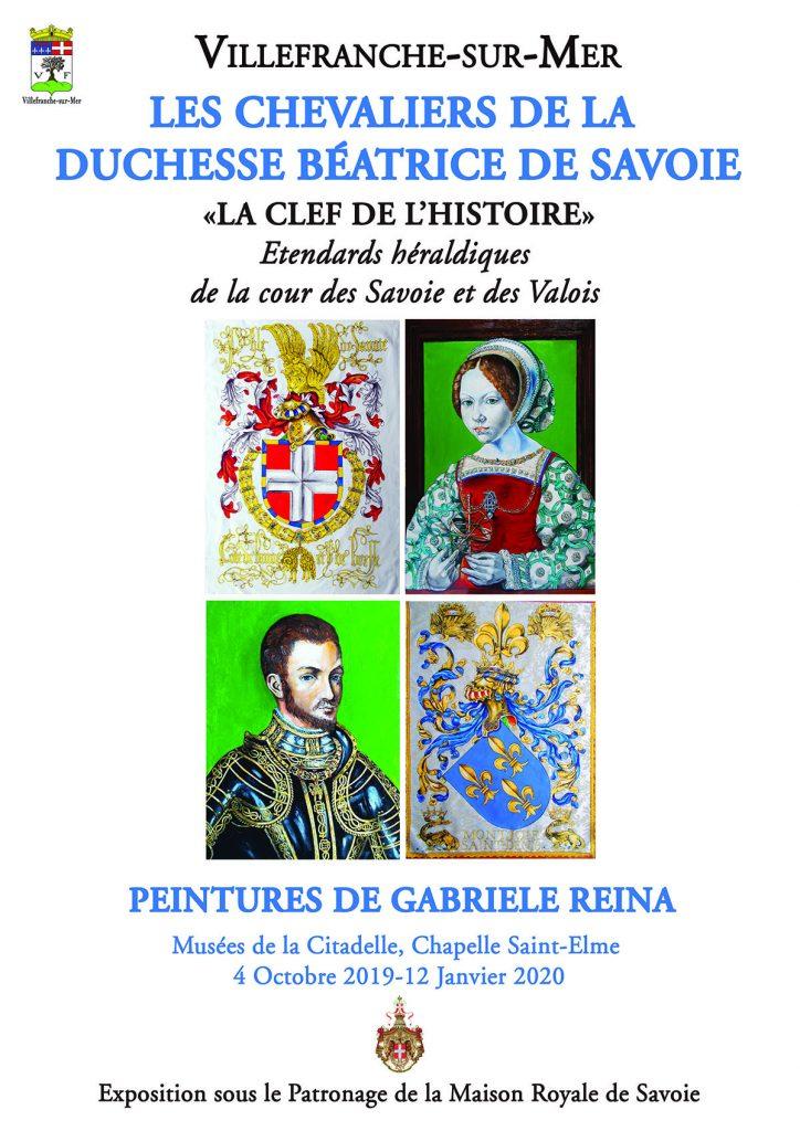 """Exposition - Les chevaliers de la Duchesse Béatrice de Savoie """"La Clef de l'histoire"""" & Peinture de Gabriele Reina"""