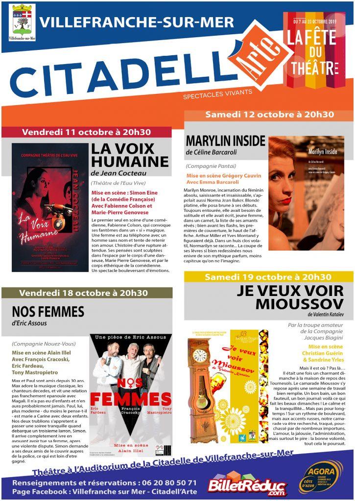 CITADELL'ARTE - La fête du théâtre - Du 7 au 23 octobre 2019 @ Auditorium - Citadelle
