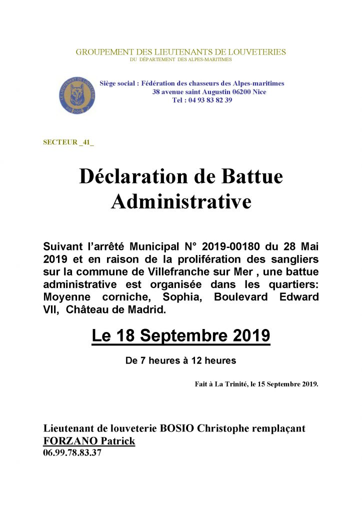 Battue Administrative