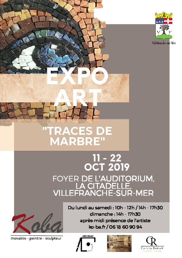 "VERNISSAGE & EXPO ART - ""Traces de marbre"" de KOBA @ Foyer de l'Auditorium"