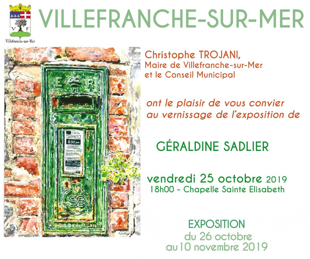 VERNISSAGE ET EXPOSITION - Géraldine Sadlier @ Chapelle Sainte Elisabeth