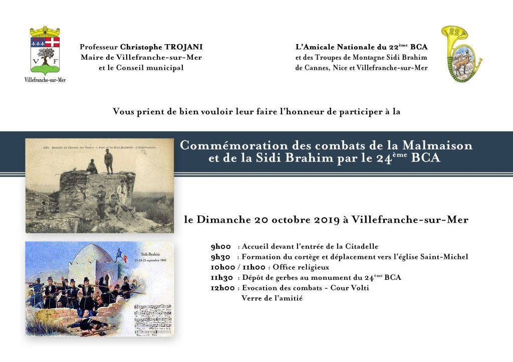 Commémoration des combats de la Malmaison et de la Sidi Brahim par le 24ème BCA