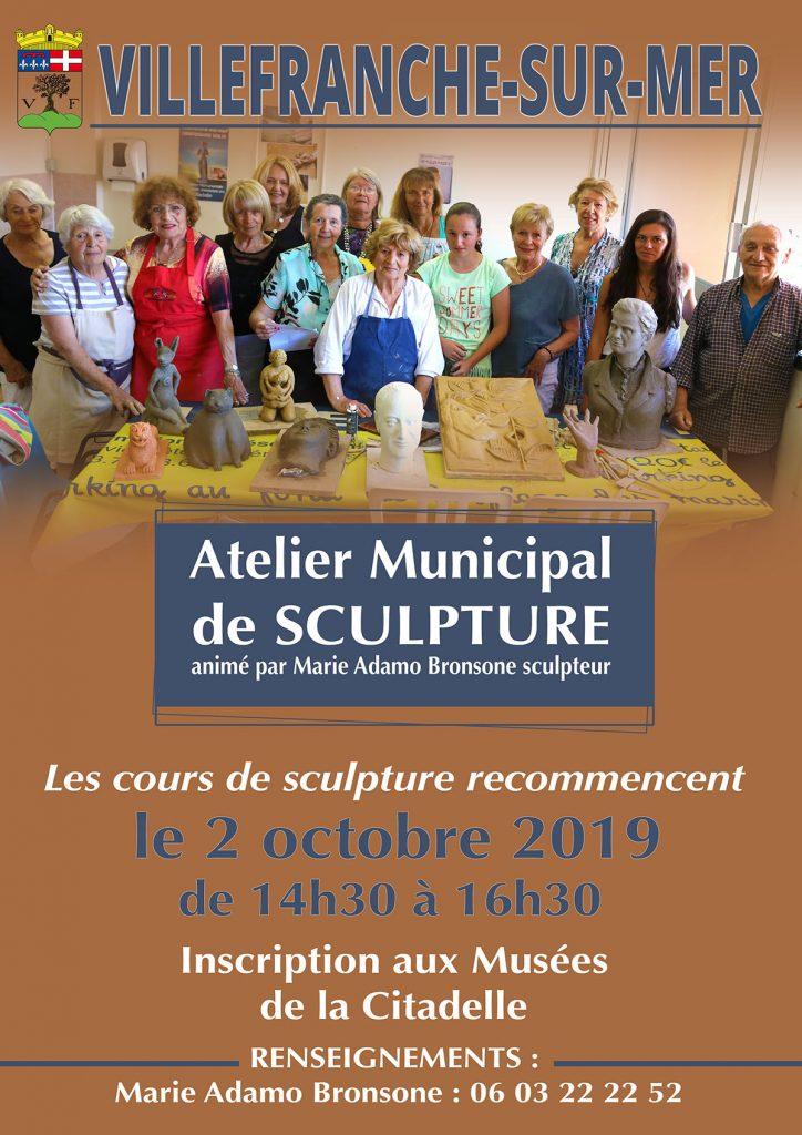 Reprise des cours de sculpture - Mercredi 2 Octobre 2019 @ Atelier Municipal de Sculpture